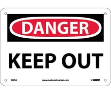 """KEEP OUT"" Sign, 14"" Width x 10"" Height"