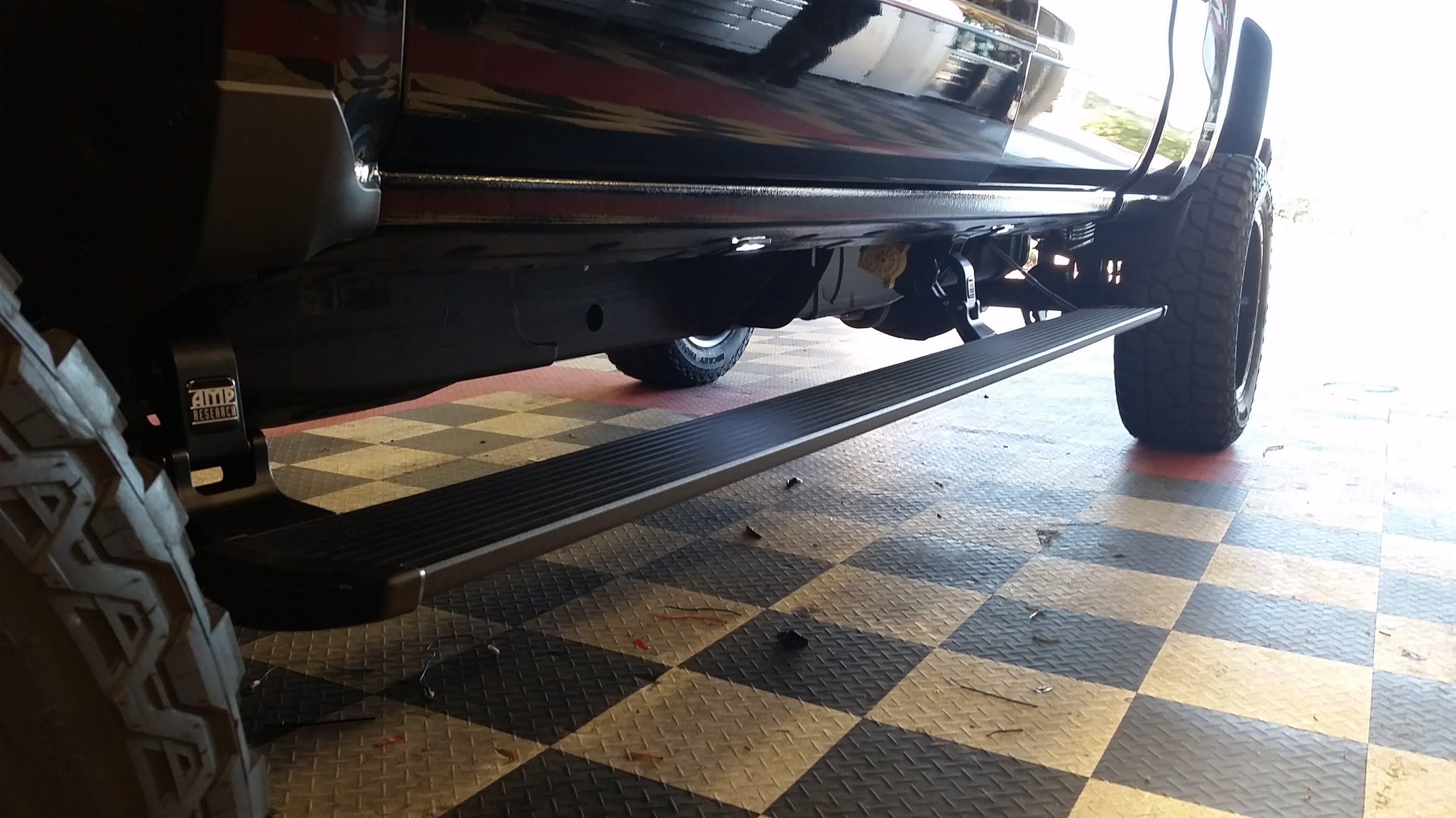 Custom truck steps