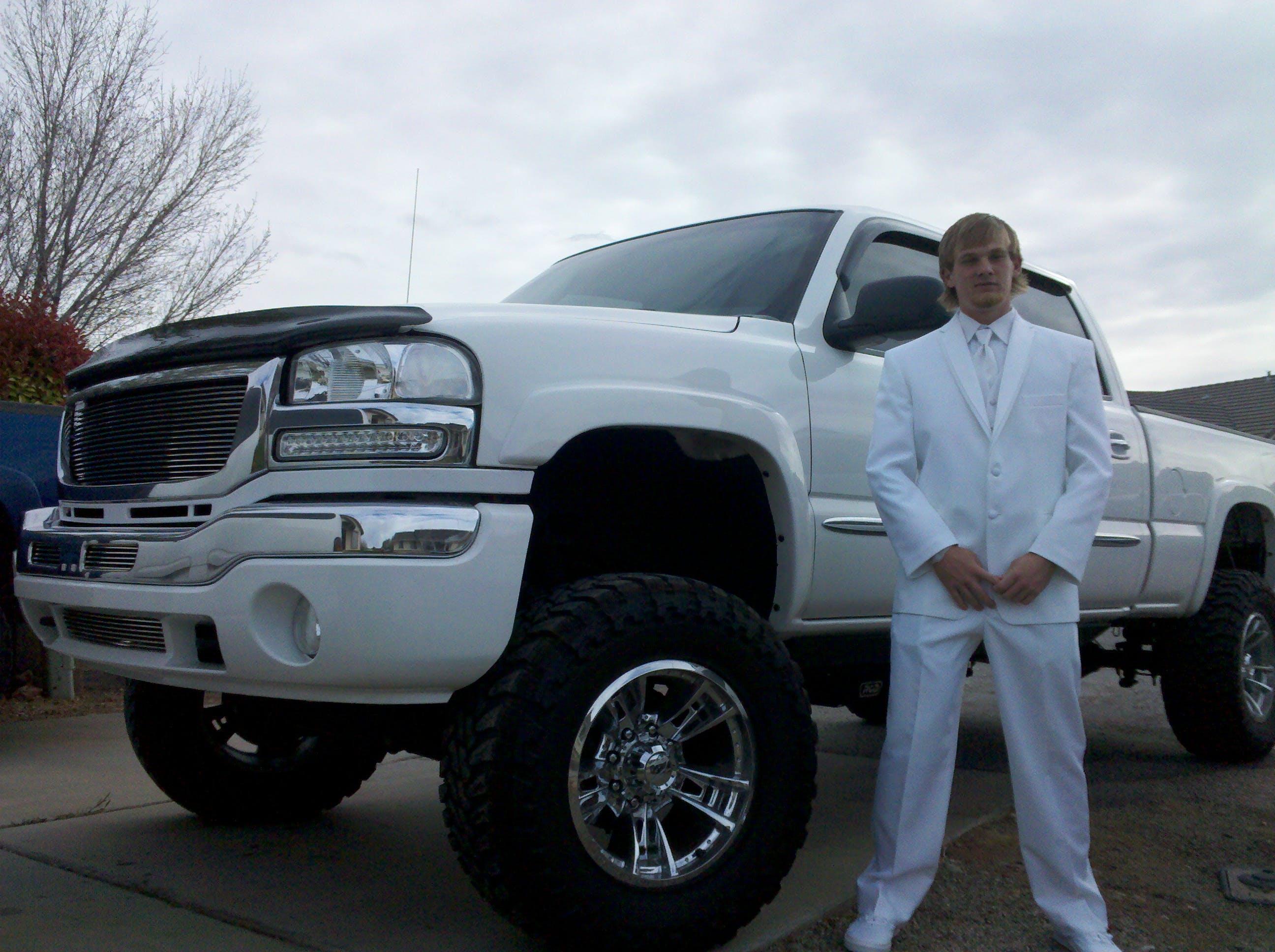 Custom white truck