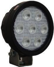 "Vision X 4004719 4"" Round Utility Market Xtreme Black 7 5W LEDs 10° Narrow"
