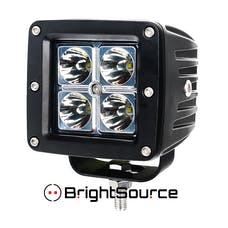 BrightSource 74001 3in. 4x3W Cree LEDs; 2 Lamps; 12W Spot pattern; 6500K incl. harness/switch
