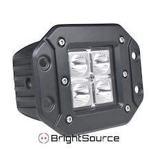 BrightSource 74002 3in. Flush Mount 4x3W Cree LEDs; 2 Lamps; 12W Spot pattern; 6500K incl. harness/