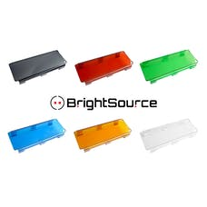 BrightSource 74181 Amber 8in. Polycarbonate Lens Cover-combine to fit any BrightSource Light Bar