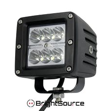 BrightSource 76001 3in. 6x3W Cree LEDs; 2 Lamps; 18W Spot pattern; 6500K incl. harness/switch