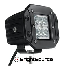 BrightSource 76002 3in. Flush Mount 6x3W Cree LEDs; 2 Lamps; 18W Spot pattern; 6500K incl. harness/