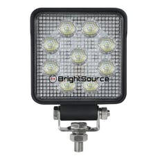 BrightSource 791152F 4in. Square Work Light-Flood Pattern; no harness; 15W