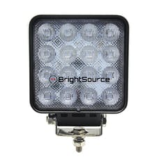 BrightSource 791482F 4in. Square Work Light-Flood Pattern; no harness; 48W High Output
