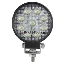 BrightSource 891152F 4in. Round Work Light-Flood Pattern; no harness; 15W