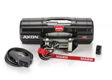 WARN 101145 AXON 45 Wire Rope Winch; Black