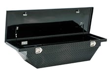 "Brandit APSTB63ALPB 63"" Single Lid Low Profile Crossover Toolbox (Black Powder Coated Finish)"