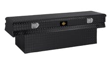 "Brandit APTBC60NB 60"" Notched Chest Box Toolbox (Black Powder Coated Aluminum Finish)"