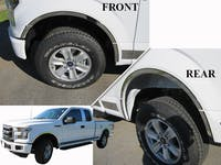 "Chrome Fender trim 2015-2017 Ford F-150 12 piece, 1.25"" wide Part#: WQ55308"