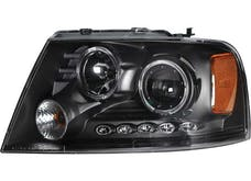 AnzoUSA 111204 Projector Headlights with Halo & LED Black G2