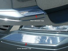 PACIFICA 2004-2006 CHRYSLER 4-door (4 piece Stainless Steel Front and Rear  Bumper Cap Trim Accent) BC44750 QAA