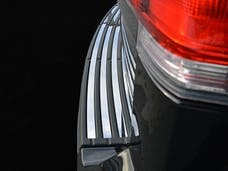 NAVIGATOR 2015-2017 LINCOLN 4-door, SUV (4 piece Stainless Steel Insert set  Rear Bumper Trim Accent) BI55655 QAA
