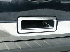 FLEX 2009-2012 FORD 4-door (2 piece Stainless Steel  with top section bend for contour, includes second Trim Accent piece that sits flush on the bottom surface of the concave of the door handle structure. Tailgate Handle Accent Trim Ring) DH49340 QAA