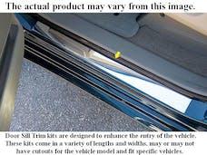 MUSTANG 2005-2007 FORD 2-door (2 piece Stainless Steel Brushed Steel NOT Chrome  Door Sill trim) DS45351 QAA
