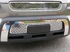SOUL 2010-2011 KIA 4-door (2 piece Stainless Steel   Front Bumper Trim) FB10830 QAA