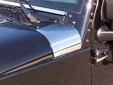 WRANGLER JK 2007-2018 JEEP 4-door (2 piece Stainless Steel   Upper Hood Accent Trim) HD47085 QAA