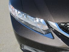 CIVIC 2012-2015 HONDA 4-door (2 piece Stainless Steel  Adheres to the front bumper, underneath the headlight. Head Light Accent Trim) HL12214 QAA