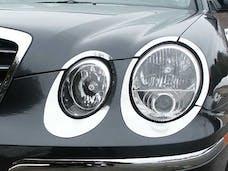 AMANTI 2004-2006 KIA 4-door (10 piece Stainless Steel   Head Light Accent Trim) HL24800 QAA