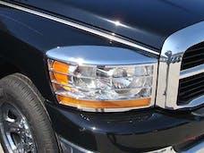 RAM 2006-2008 DODGE 2/4-door (2 piece Chrome Plated ABS plastic   Headlight Bezel, ABS/Chrome) HLB46935 QAA