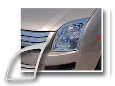 FUSION 2007-2009 FORD 4-door (2 piece Chrome Plated ABS plastic   Headlight Bezel, ABS/Chrome) HLB47390 QAA