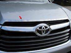 HIGHLANDER 2014-2019 TOYOTA 4-door, SUV (1 piece Stainless Steel   Hood Vent Trim) HT14110 QAA