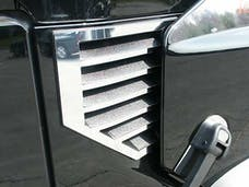 H2 2003-2006 HUMMER SUV, MUST NOT HAVE ANTENNA (2 piece Stainless Steel No Antenna  Cowl Vent Accent Trim) HV43002 QAA