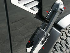 H2 2003-2009 HUMMER SUV (8 piece Stainless Steel   Hood Latch Base Accent Trim) HV43004 QAA