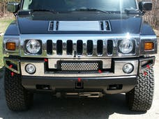H2 2003-2009 HUMMER SUV (7 piece Stainless Steel Includes Z grill  Front Bumper Trim) HV43009 QAA