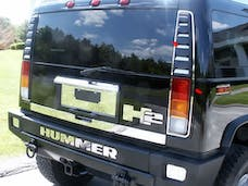 H2 2003-2009 HUMMER SUV (14 piece Stainless Steel   Tail Light Ring Package) HV43016 QAA