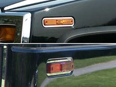 H2 2003-2007 HUMMER SUV (4 piece Stainless Steel Ring set Note: Must remove marker lights to install accent trim, then put marker lights back onto the vehicle. Marker Light Trim) HV43024 QAA