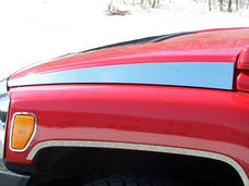 H3 2006-2009 HUMMER SUV (2 piece Stainless Steel   Hood Accent Trim) HV46302 QAA