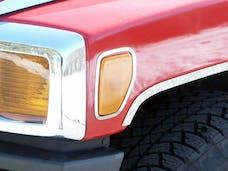 H3 2006-2009 HUMMER SUV (2 piece Stainless Steel   Marker Light Trim) HV46305 QAA