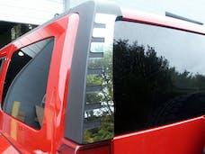 H3 2006-2009 HUMMER SUV (2 piece Stainless Steel   Rear Window Trim Accent) HV46311 QAA