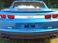 CAMARO 2010-2013 CHEVROLET 2-door (1 piece Stainless Steel With Logo Cut Out  License Bar, Above plate accent Trim) LB50100 QAA