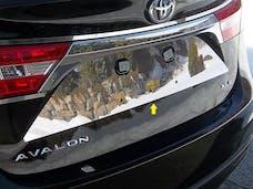 AVALON 2013-2018 TOYOTA 4-door (1 piece Stainless Steel   License Plate Bezel) LP13165 QAA