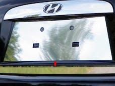 ACCENT 2006-2011 HYUNDAI 4-door (1 piece Stainless Steel   License Plate Bezel) LP27365 QAA