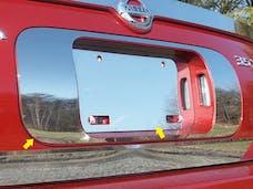 MAXIMA 2004-2008 NISSAN 4-door (2 piece Stainless Steel   License Plate Surround Trim) LPS24540 QAA