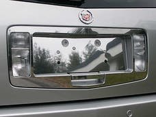 SRX 2004-2009 CADILLAC 4-door, SUV (3 piece Stainless Steel   License Plate Surround Trim) LPS44260 QAA