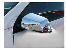 ACADIA 2007-2016 GMC 4-door, SUV (4 piece Chrome Plated ABS plastic Full, Hybrid kit, Includes a removable piece that accomodates the Cut Out for the Turn Signal Light upon assembly when applicable.  Mirror Cover Set) MC49165 QAA