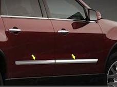 ACADIA 2007-2013 GMC 4-door, SUV, installs on molding (4 piece Stainless Steel 1.36