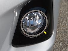 COROLLA 2014-2016 TOYOTA 4-door (2 piece Stainless Steel Fog Light Surround Rings  Accent Trim) ML14112 QAA