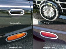 THUNDERBIRD 2002-2006 FORD 2-door (8 piece Stainless Steel Surround ring package Includes Door Handles, Fog Lights, Front and Rear Marker Lights  Accent Trim) ML43670 QAA