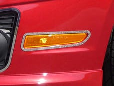 FUSION 2010-2012 FORD 4-door (2 piece Stainless Steel Front Marker Light Surround rings  Accent Trim) ML50390 QAA