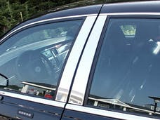 TOWN CAR 1998-2011 LINCOLN 4-door Limousine and Hearse fitment 4 piece Stainless Steel Pillar Post Trim PP38680 QAA