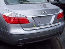 GENESIS 2009-2013 HYUNDAI 4-door (1 piece Stainless Steel With Top Crease  Rear Deck Trim, Trunk Lid Accent) RD29345 QAA