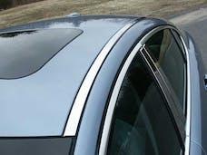 XF 2009-2010 JAGUAR 4-door (2 piece Stainless Steel   Roof Insert Trim) RI29098 QAA