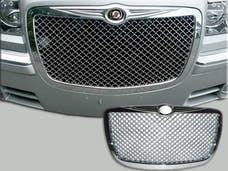 300 2005-2010 CHRYSLER 4-door, Base, C-Model, Limousine and Hearse fitment (1 piece Chrome Plated ABS plastic Mesh design  Billet Grille Overlay) SGB45765 QAA